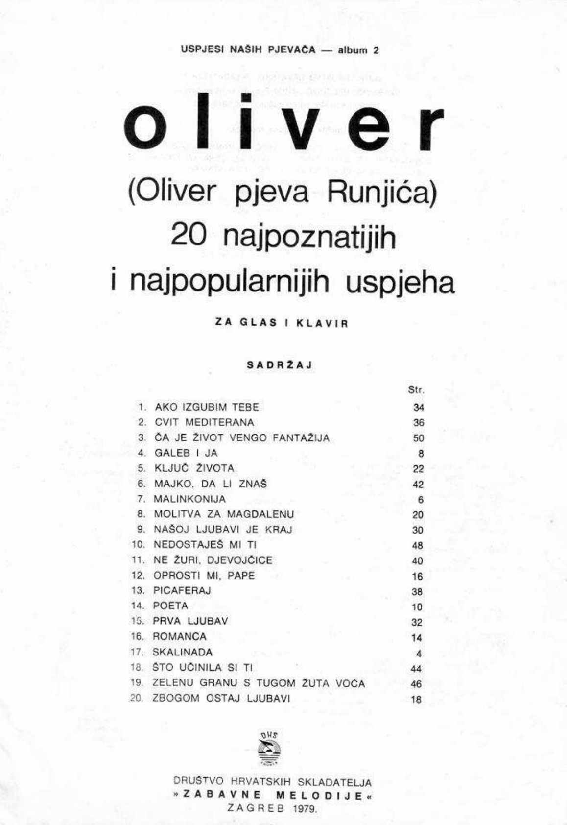 256801540 Oliver Dragojevic Note Za Glasovir Pdf Document