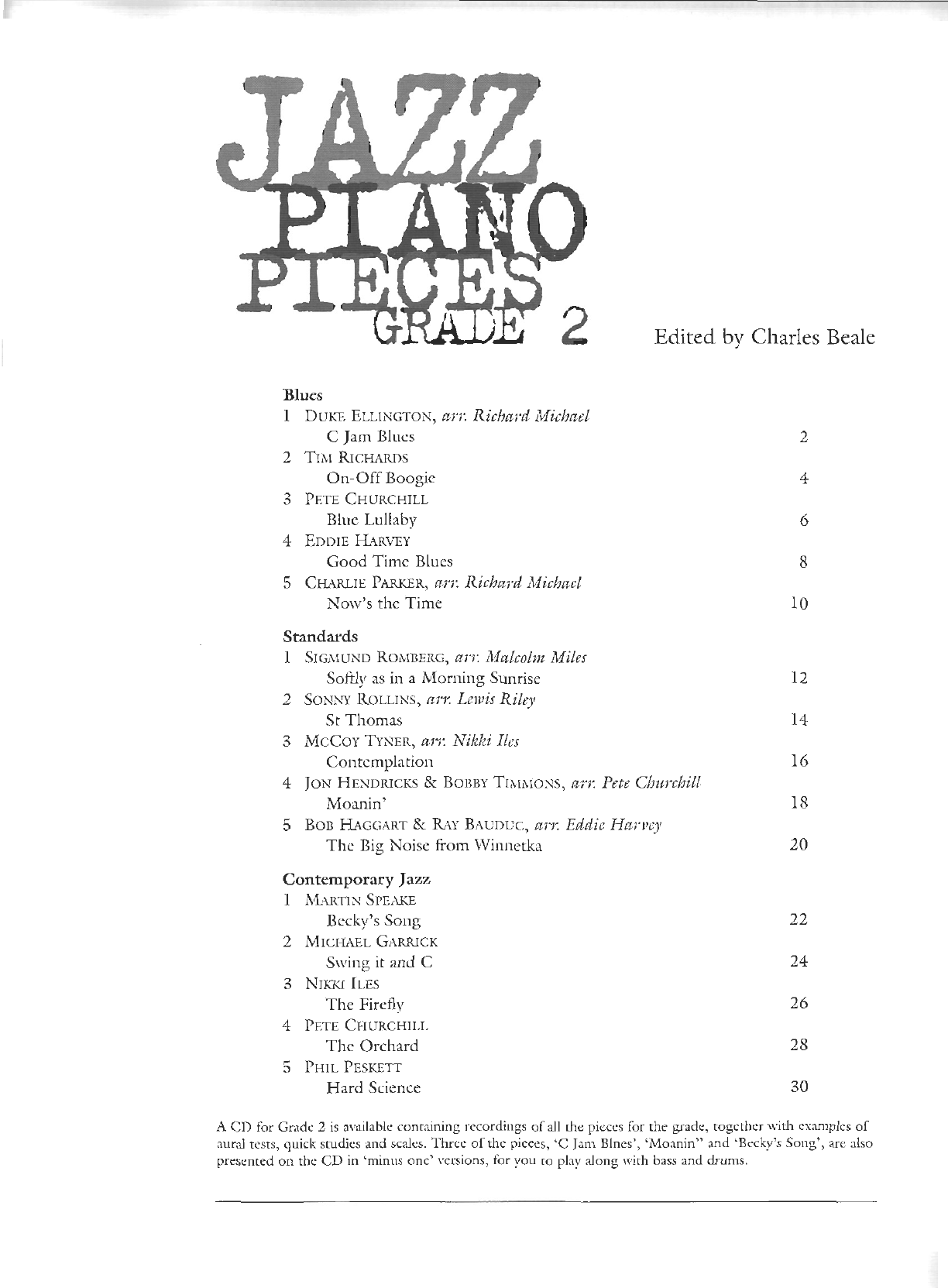JAZZ] ABRSM jazz piano pieces grade 2 pdf