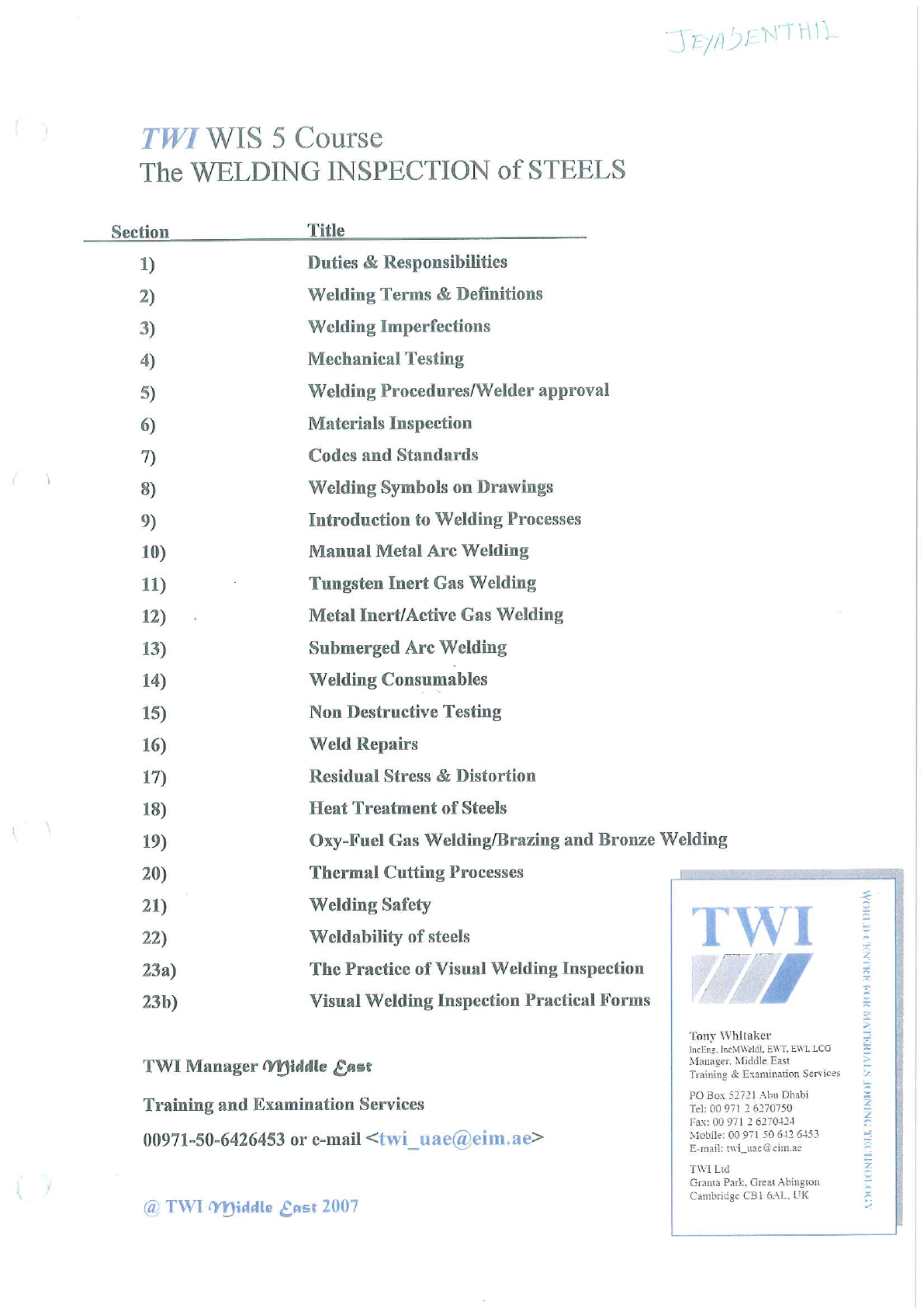 CSWIP 3 1_Welding Inspection-WIS5-2007 pdf