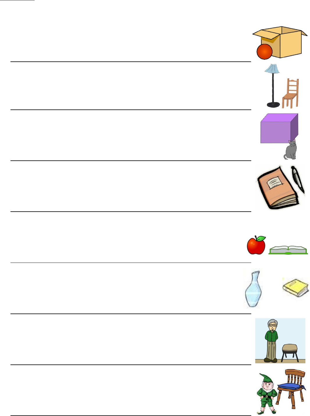 English Year 4 KSSR - Grammar: Prepositions (Worksheet)