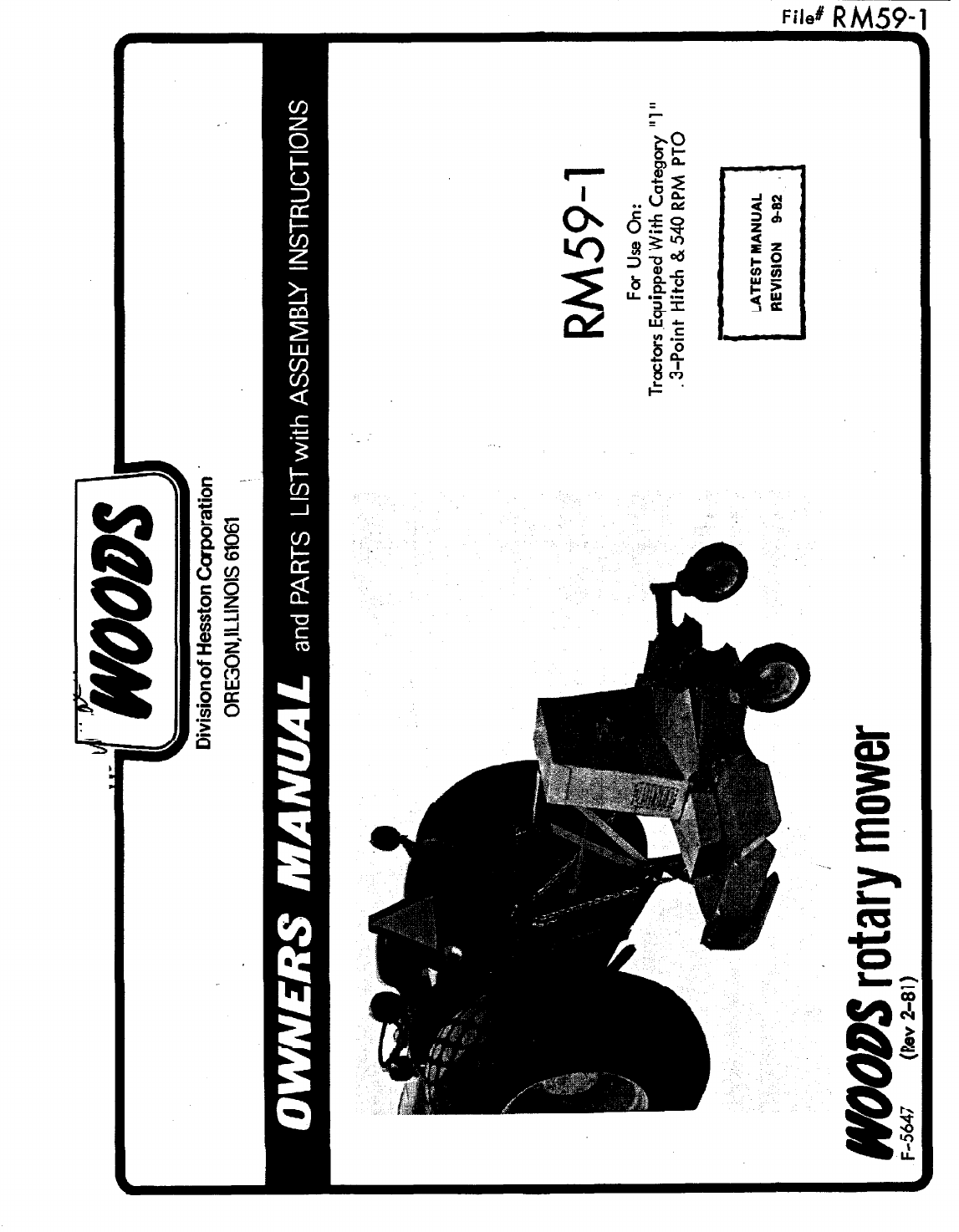 Woods RM59-1 Owner's Manual