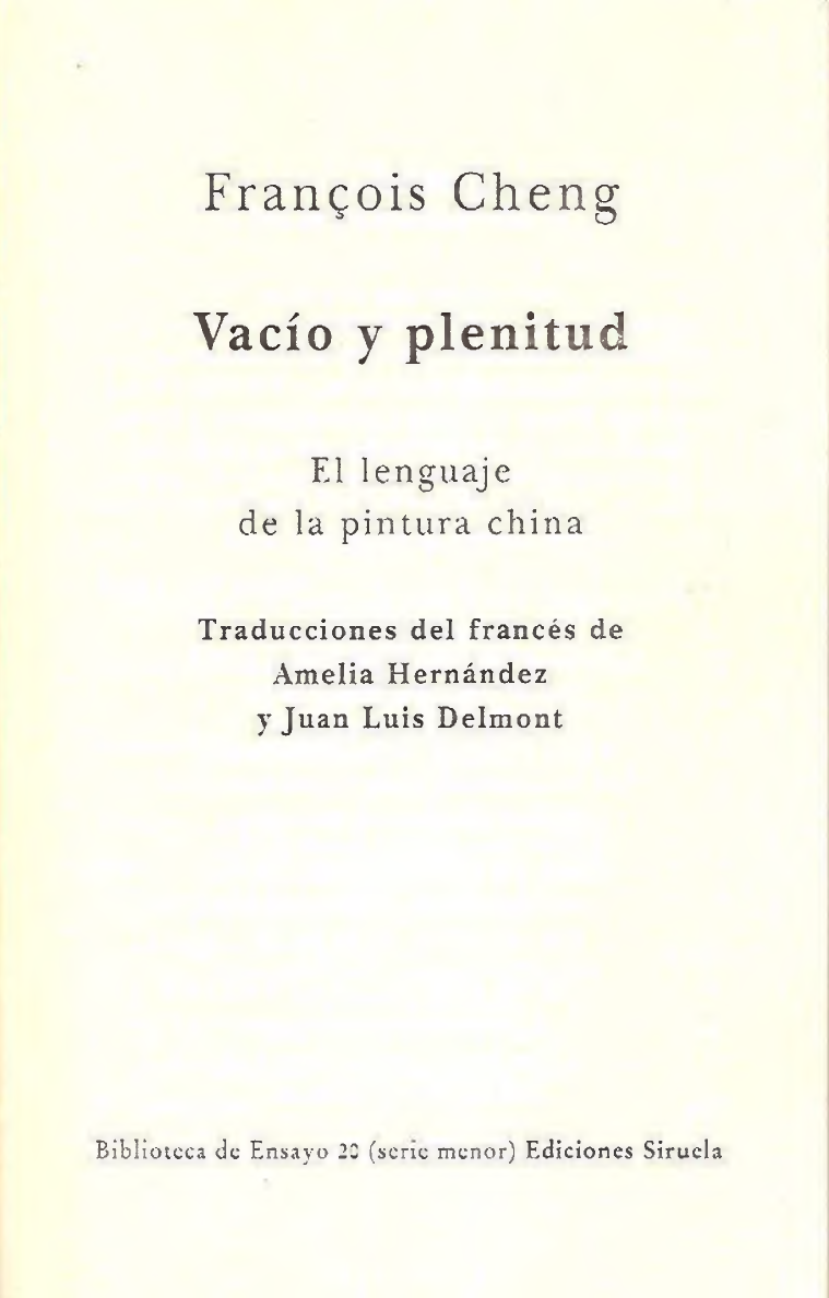 Cheng Francois Vacio Y Plenitudpdf Pdf Document