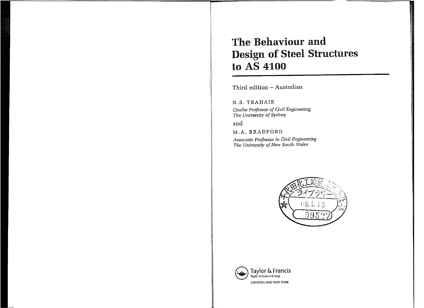 The Behaviour And Design Of Steel Structures To As 4100 Pdf Document