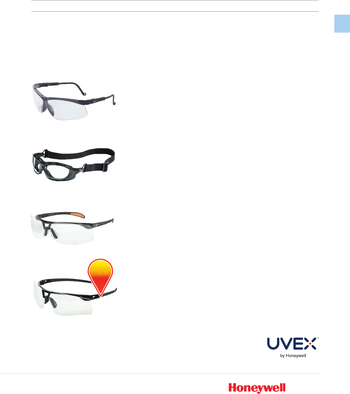 HONEYWELL UVEX S1500 Mercury™ Safety Glasses With Clear Scratch-Resistant Lens