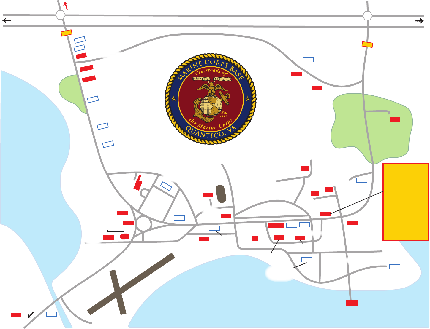 Quantico Base Map on
