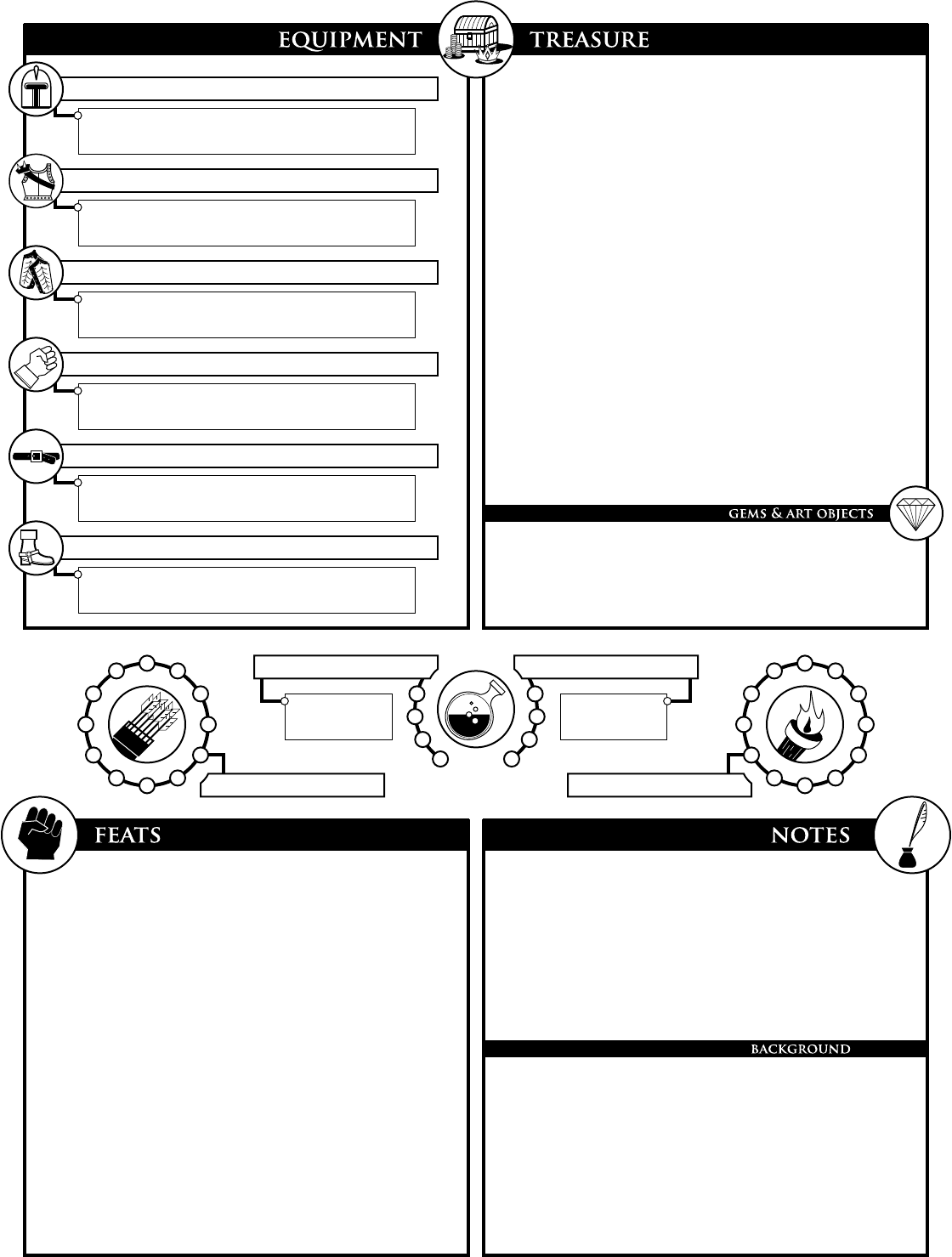 photo relating to 3.5e Character Sheet Printable titled 01 DnD Up coming Individuality Sheet (10-14) - [PDF Record]