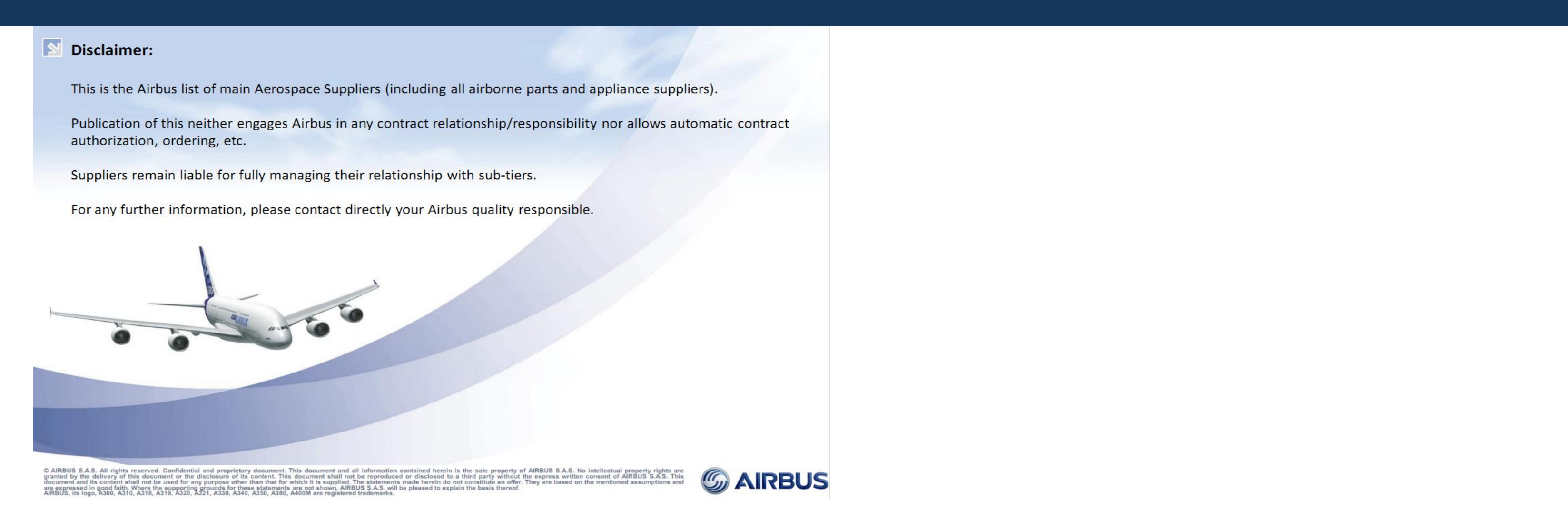 Logis Home Les Avenieres airbus supplier approval list september 2014