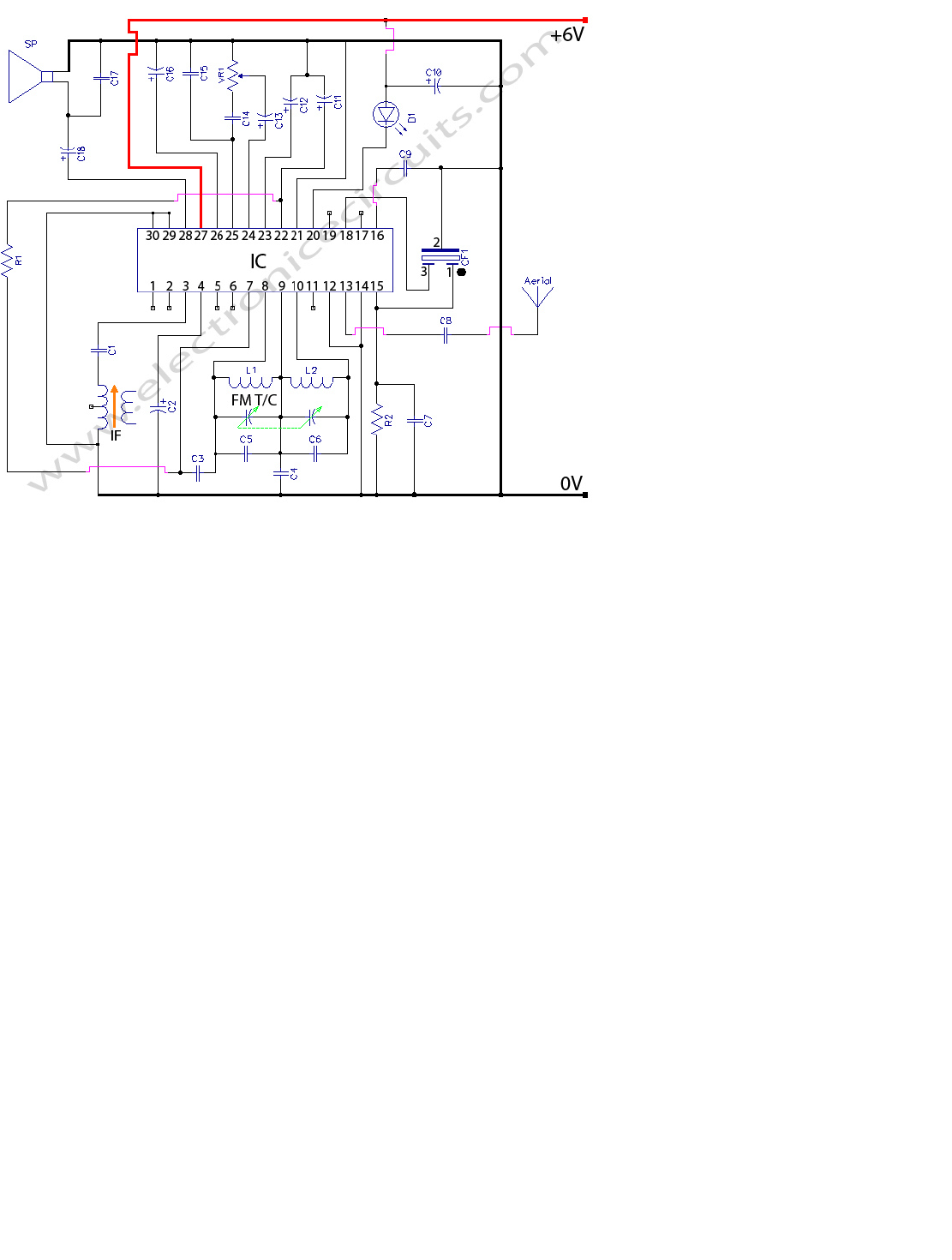 Fm Radio Electronic Circuit Diagram