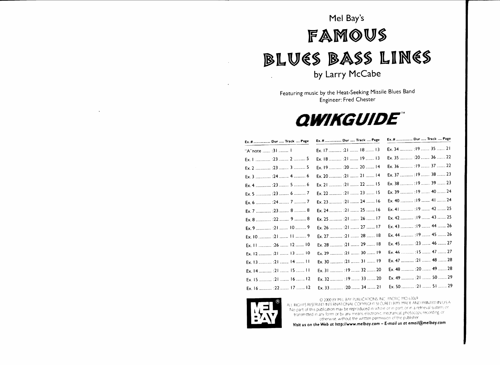 Famous Blues Bass Lines pdf